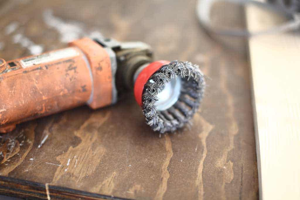 threaded arbor wire cup brush on grinder