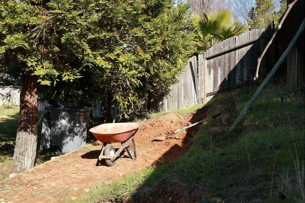 moving dirt for DIY Chicken Coop