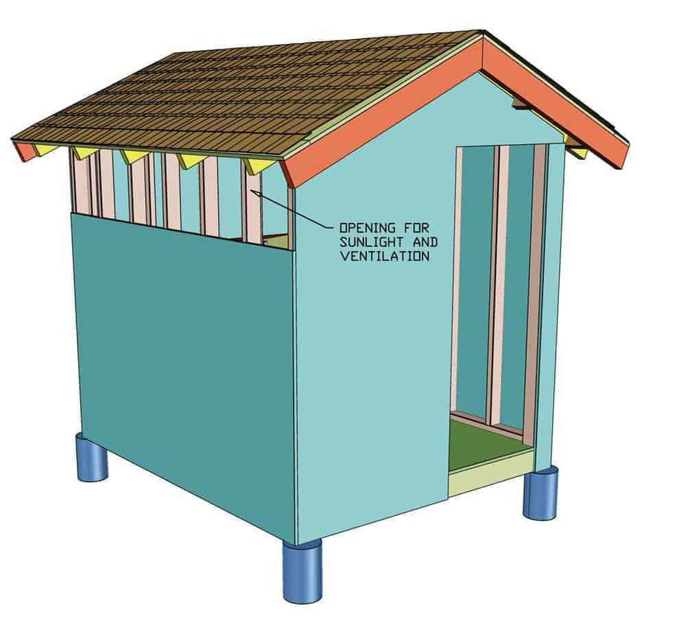 wrapping chicken coop with siding plywood