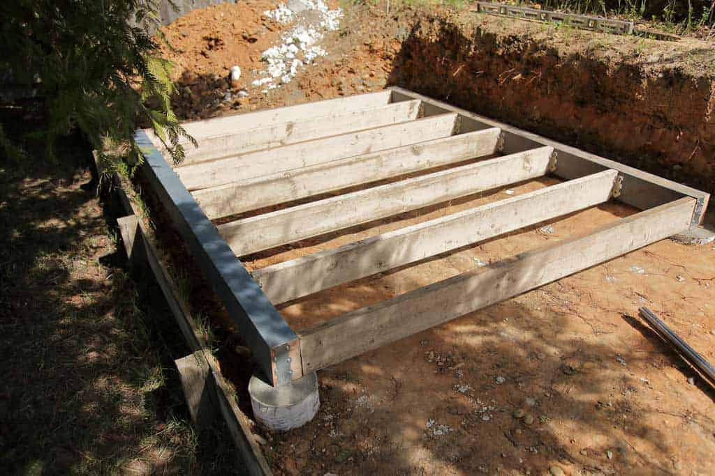 DIY Chicken Coop foundation framing
