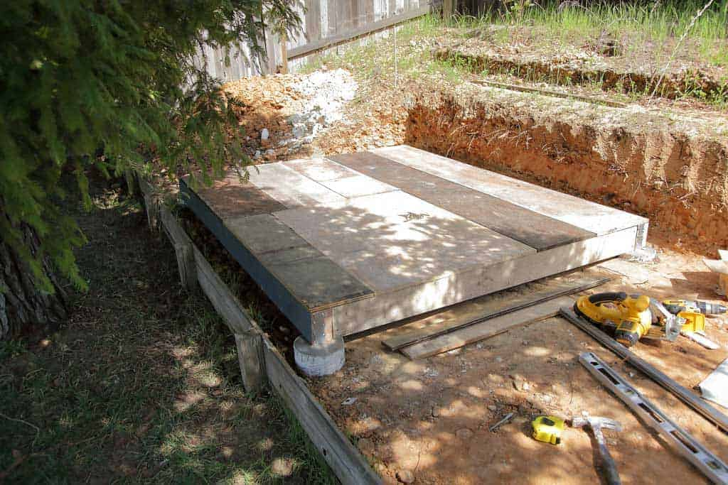 foundation for the DIY Chicken Coop