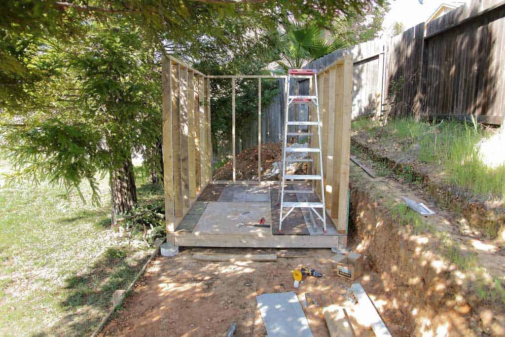 wall for DIY Chicken Coop