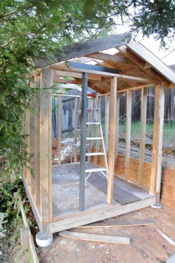 frame for DIY Chicken Coop