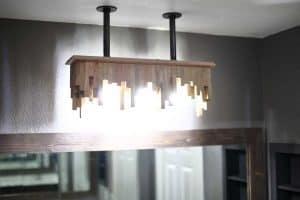 DIY bathroom light fixture