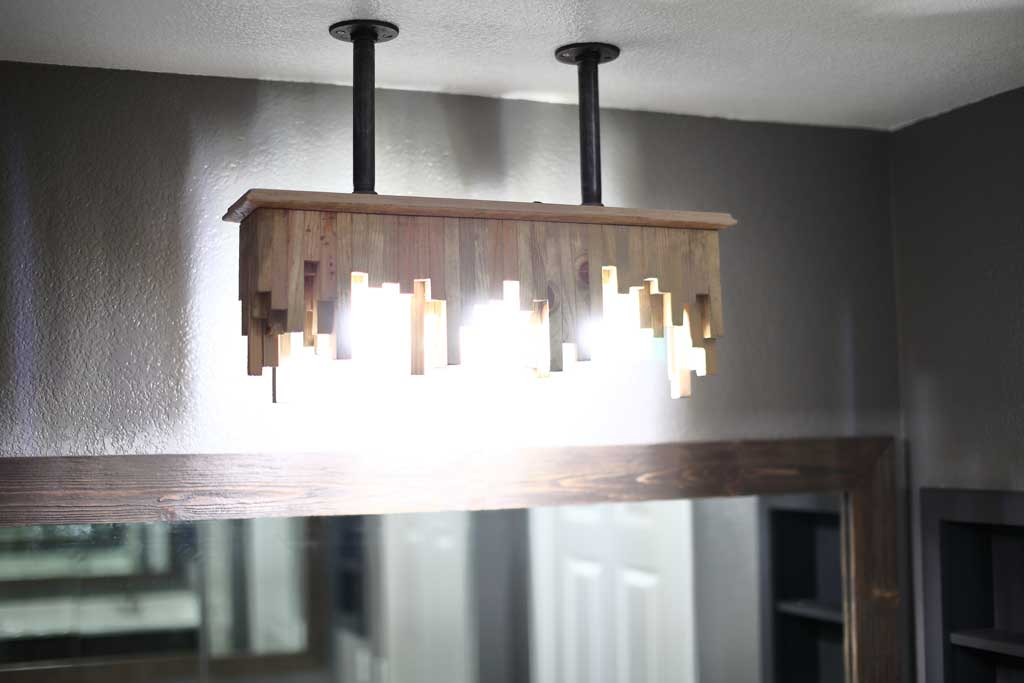 DIY bathroom light fixture