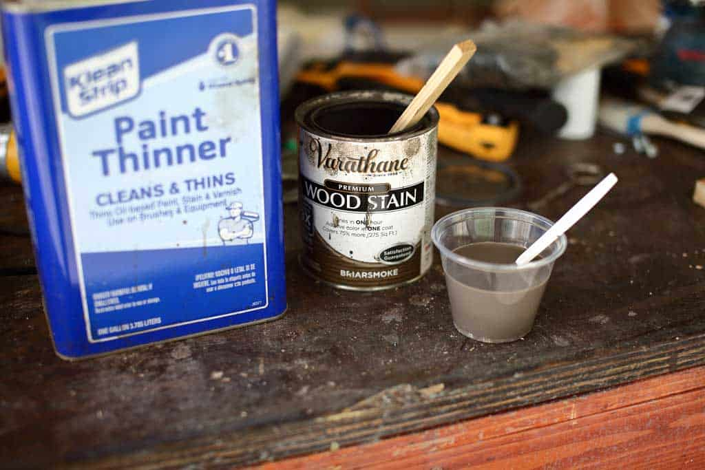 mixing stain with paint thinner
