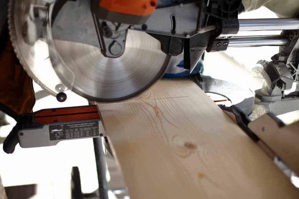 cutting board on miter saw