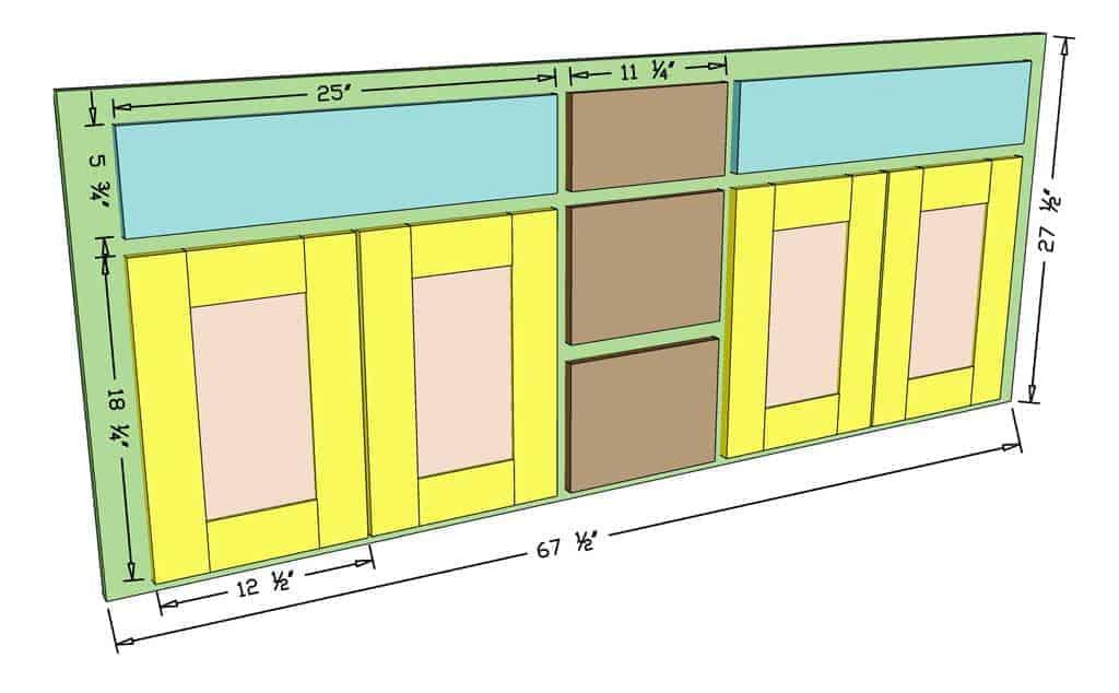 DIY Bathroom Vanity Cabinet doors dimensions
