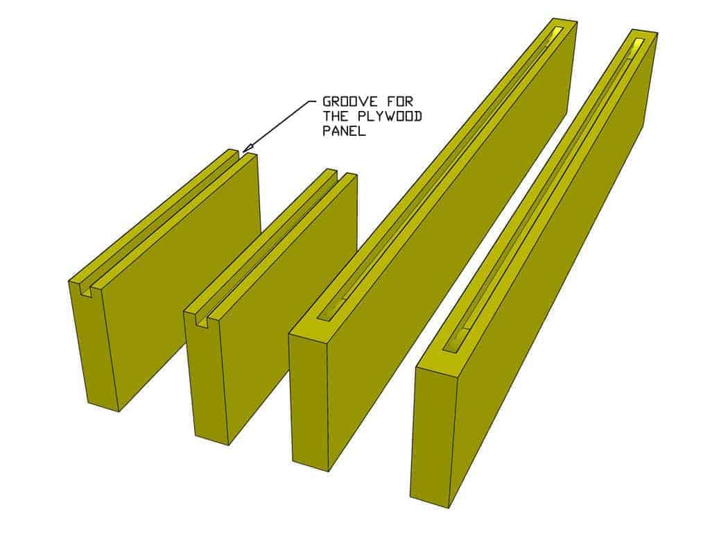 stile and rail boards with grooves