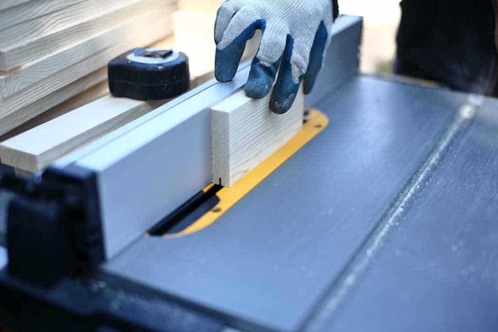 cutting a groove on the rail board