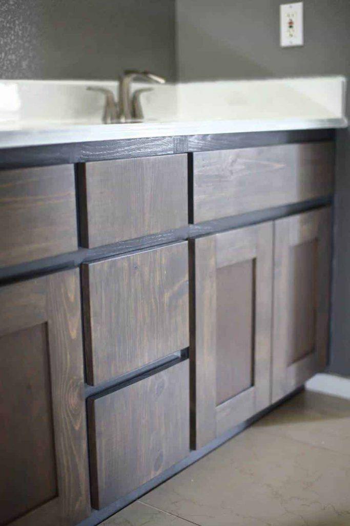 DIY Bathroom Vanity Cabinet doors