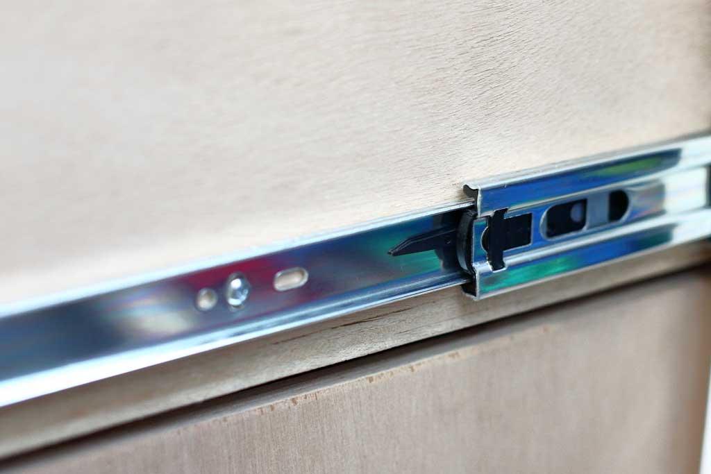 drawer slides lever