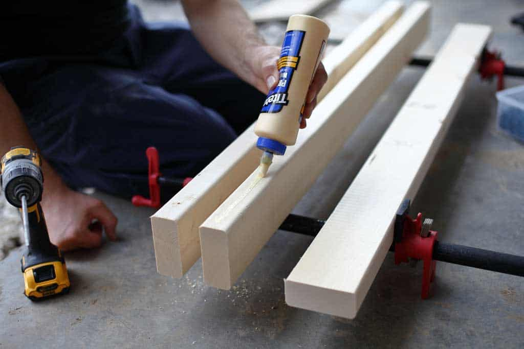 gluing boards together for tabletop