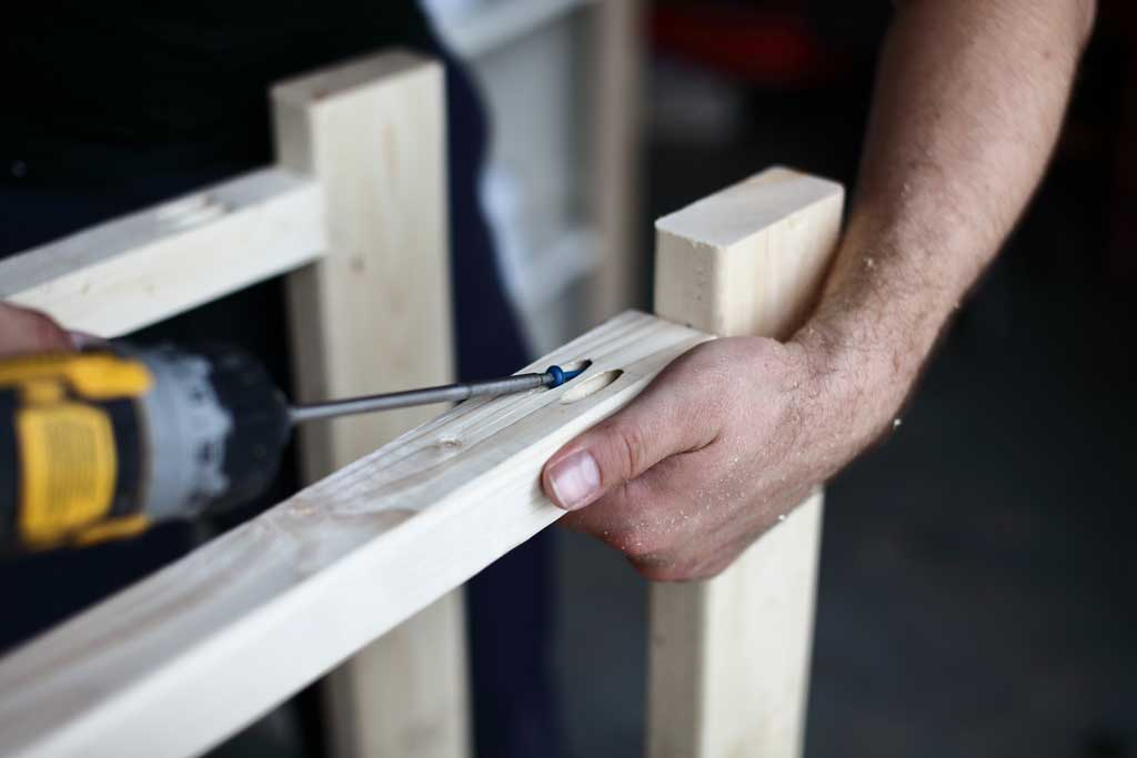 using pocket hole screws to attach board