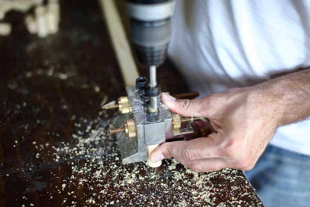 drilling chess piece for DIY memory chess game