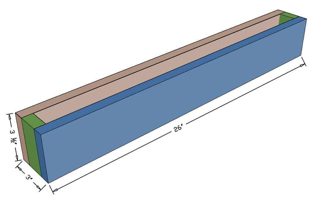 DIY Towel Bar Dimensions