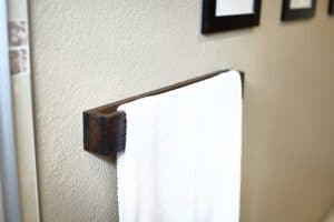 DIY Wooden Towel Bar