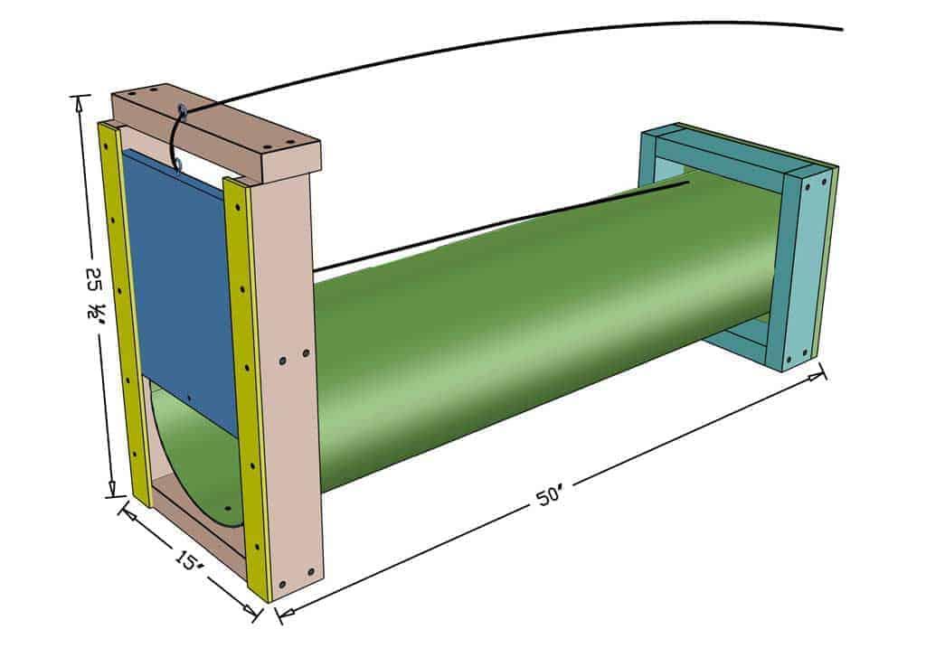 DIY skunk trap dimensions