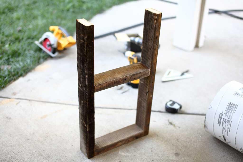 front frame of the DIY skunk trap