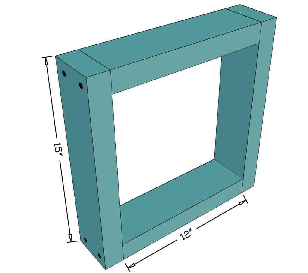back frame for DIY skunk trap
