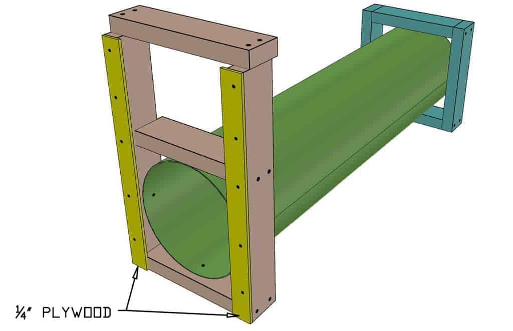 attaching door sliders for the DIY skunk trap