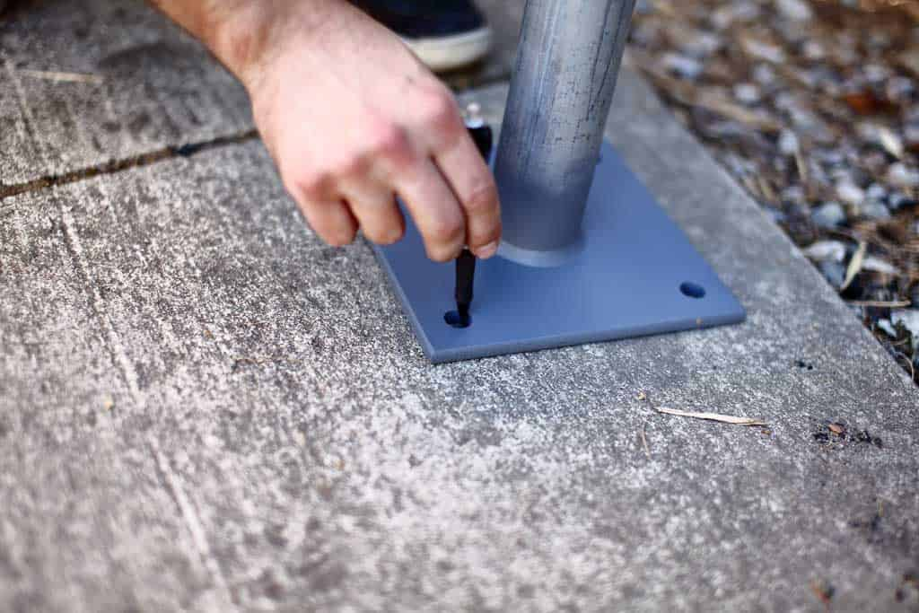 marking locations were to drill holes