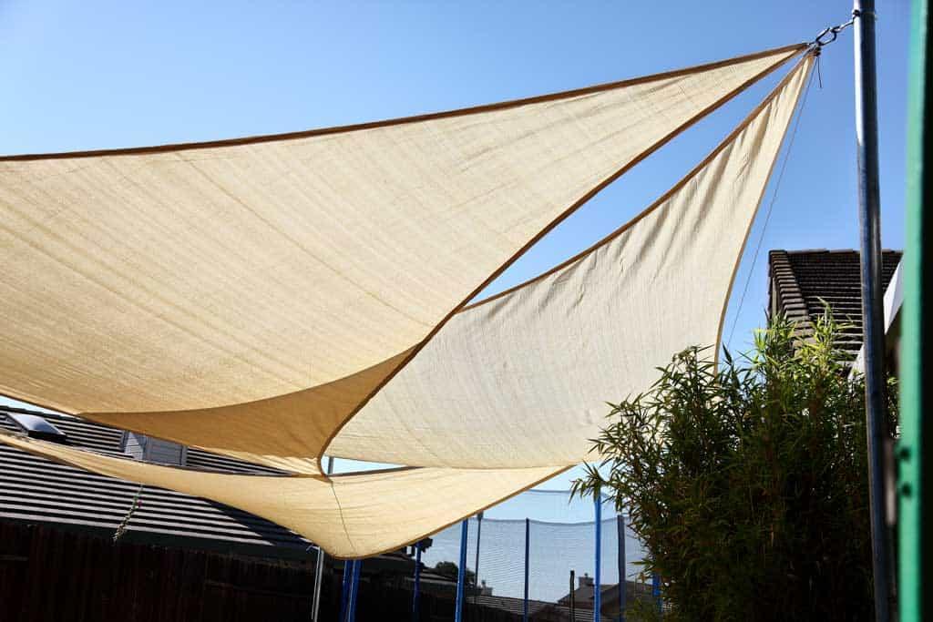 backyard patio sunshade diy