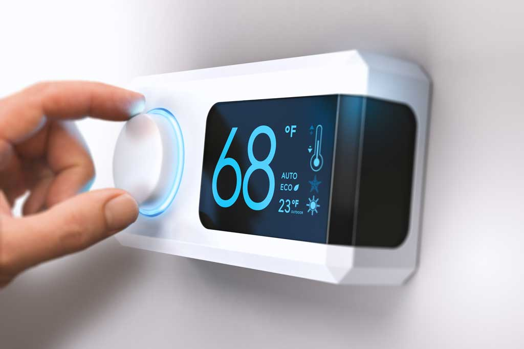 Thermostat on the wall