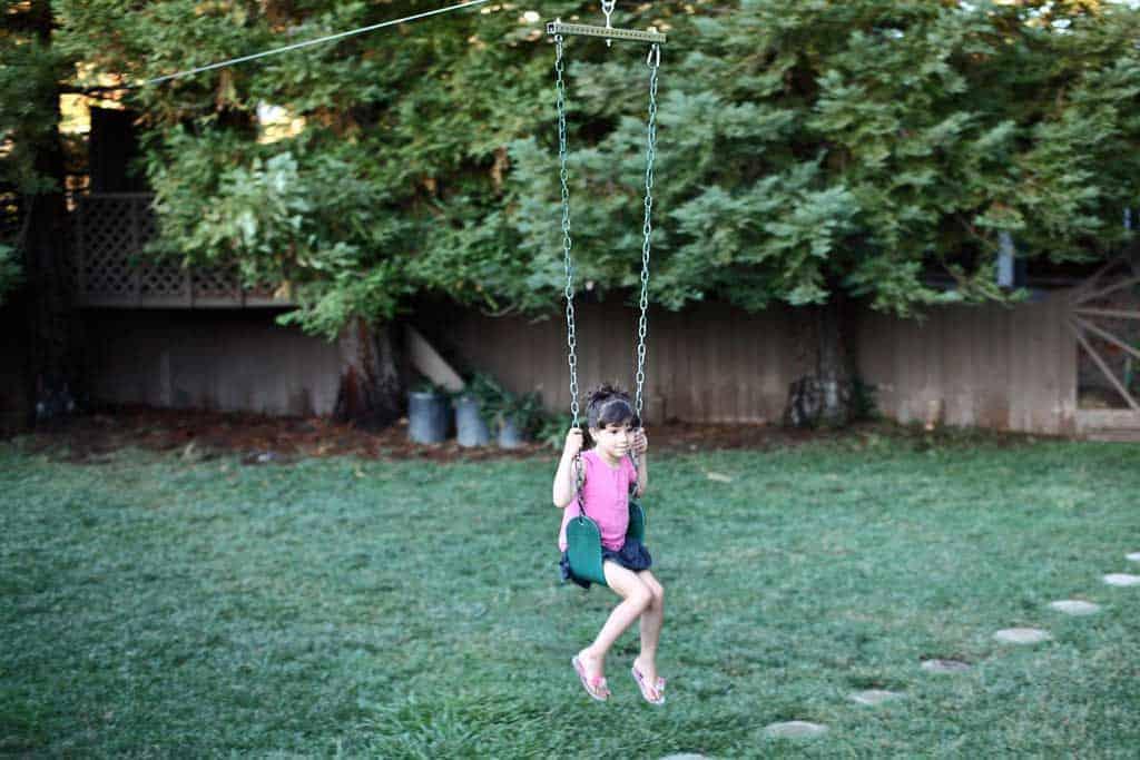diy backyard zipline