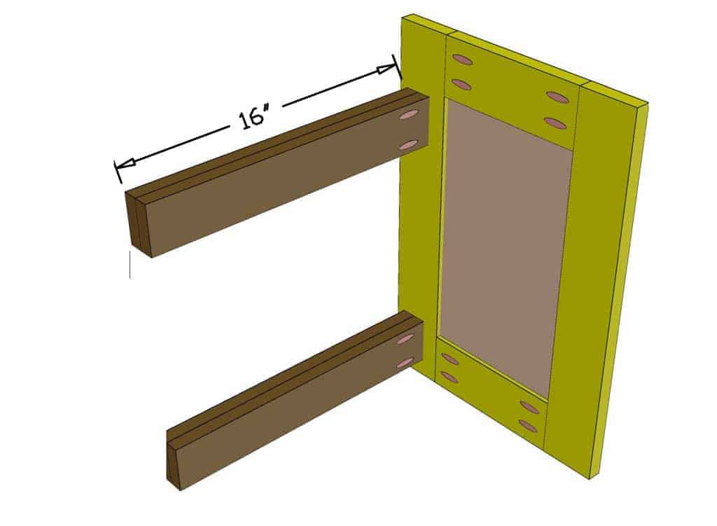 attach slider support to the cabinet door