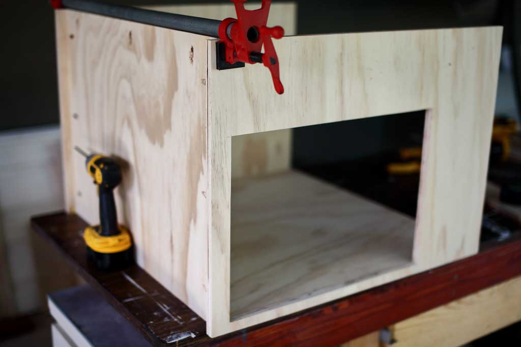clamping front frame to the cabinet