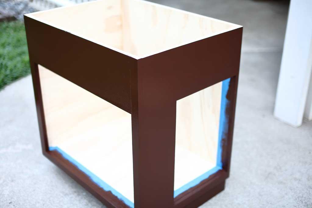 paining cabinet frame