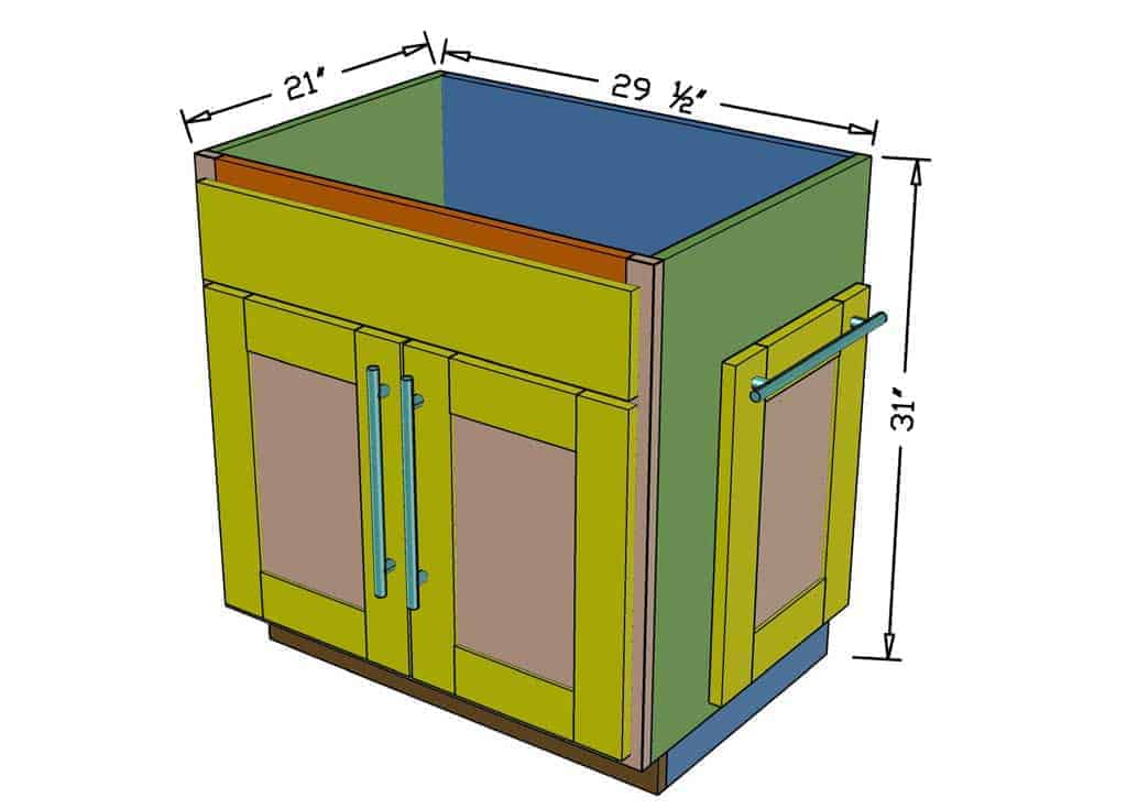 diy backroom cabinet dimensions