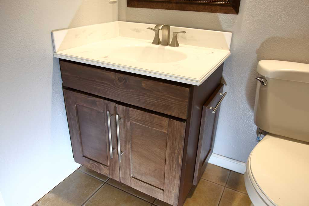 DIY Bathroom Cabinet with Epoxy Vanity Top