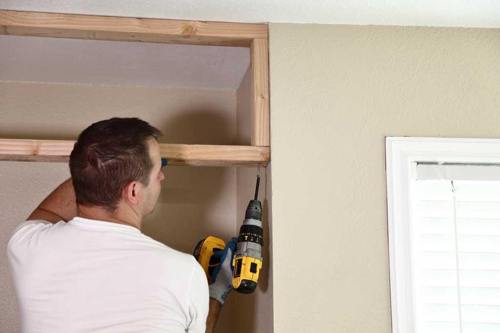 attaching header to closet framing
