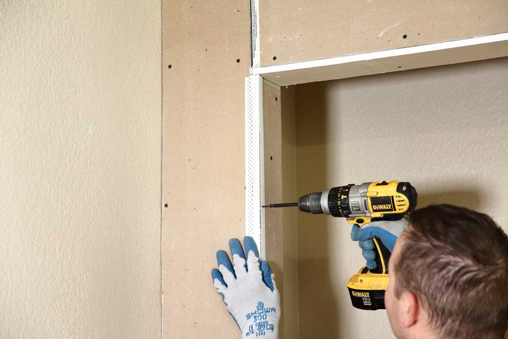 attaching band for closet corners