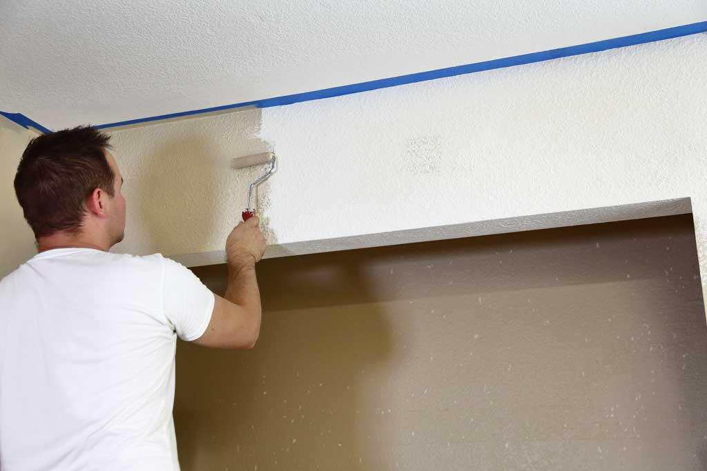 painting the closet wall