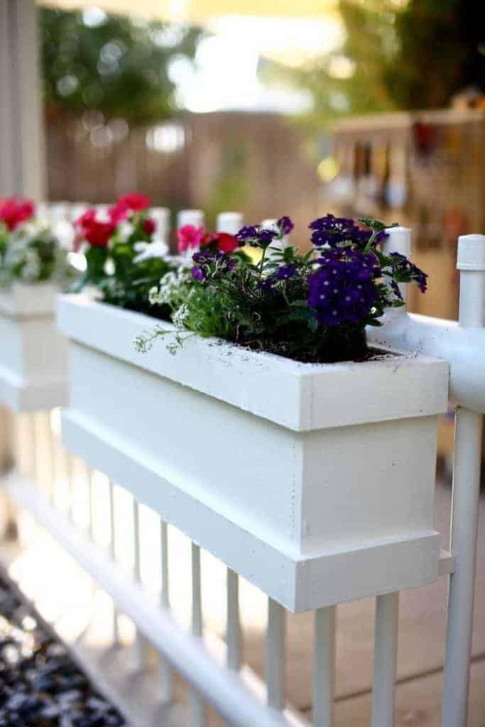 DIY Flower Planter Box