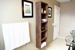 DIY Bathroom Floating Shelf