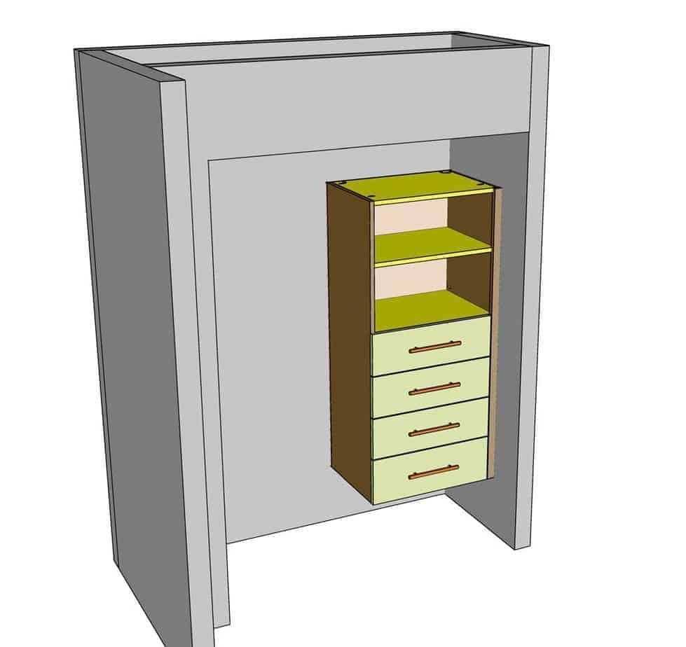 attach closet DIY Closet Organizer to the walls inside the closet