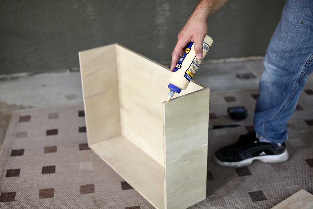 using wood glue to attach drawer covers