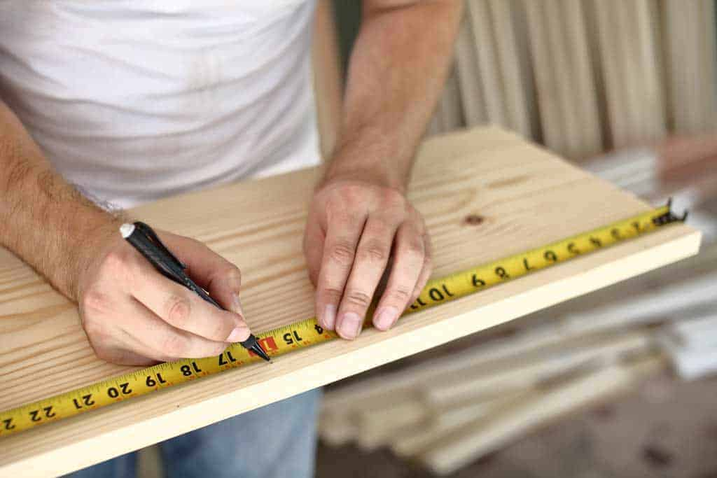 measuring boards for a cut