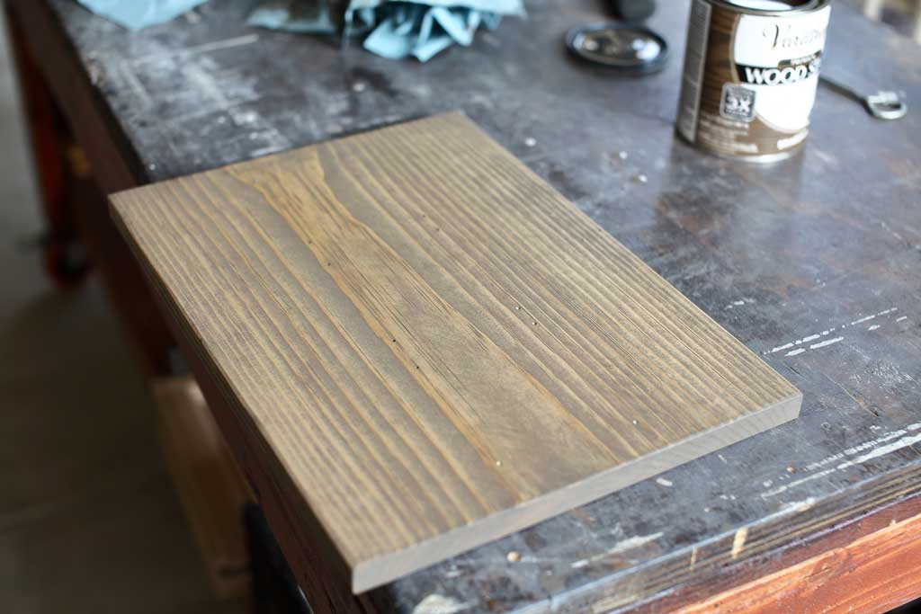 stained board