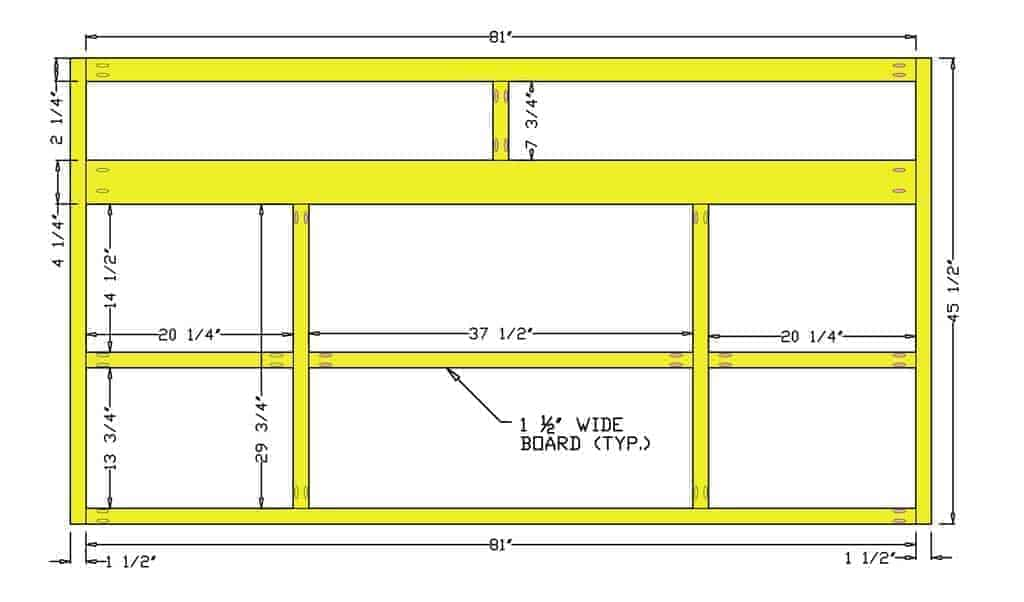 build a front face frame for DIY Media Console