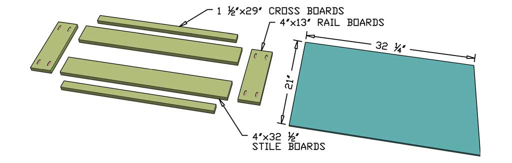 cut boards for the barn doors of the DIY Media Console