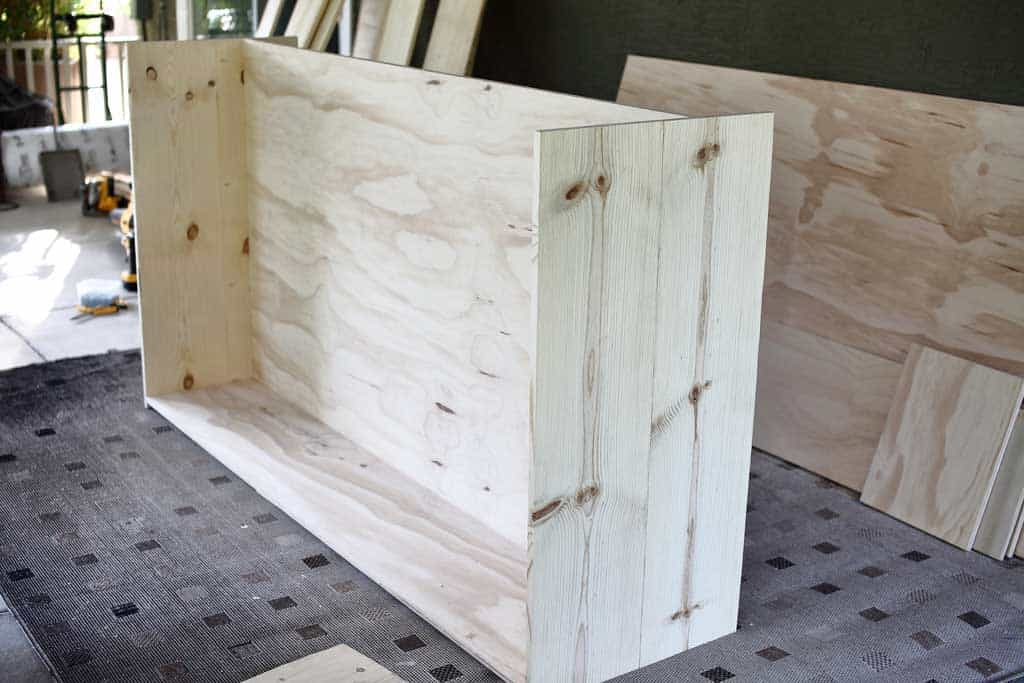attaching side boards for media console