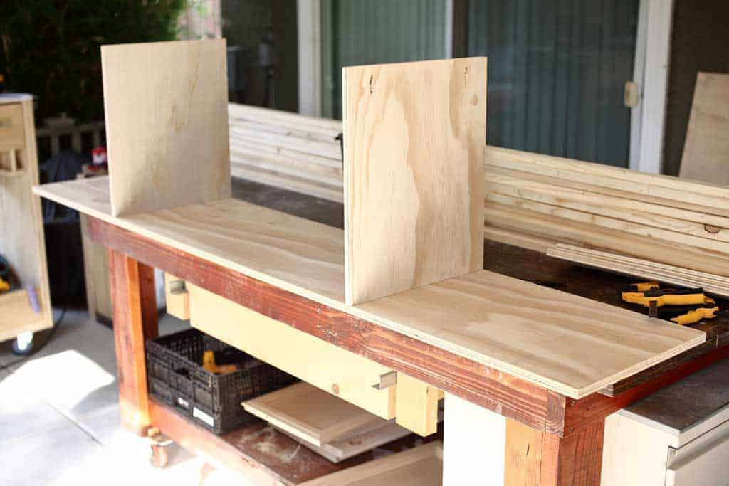 building a shelf for media center