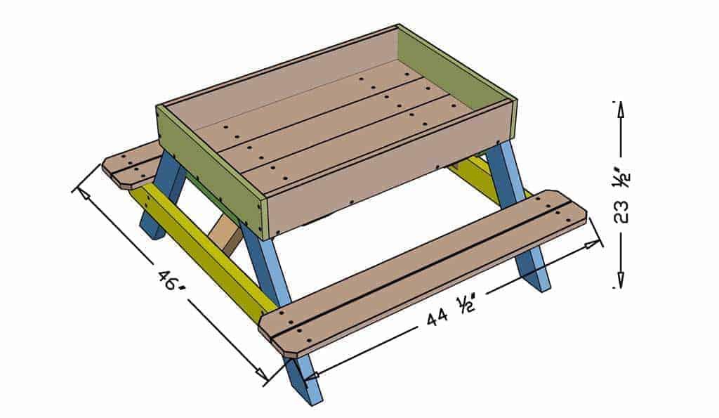 DIY Sandbox table dimensions
