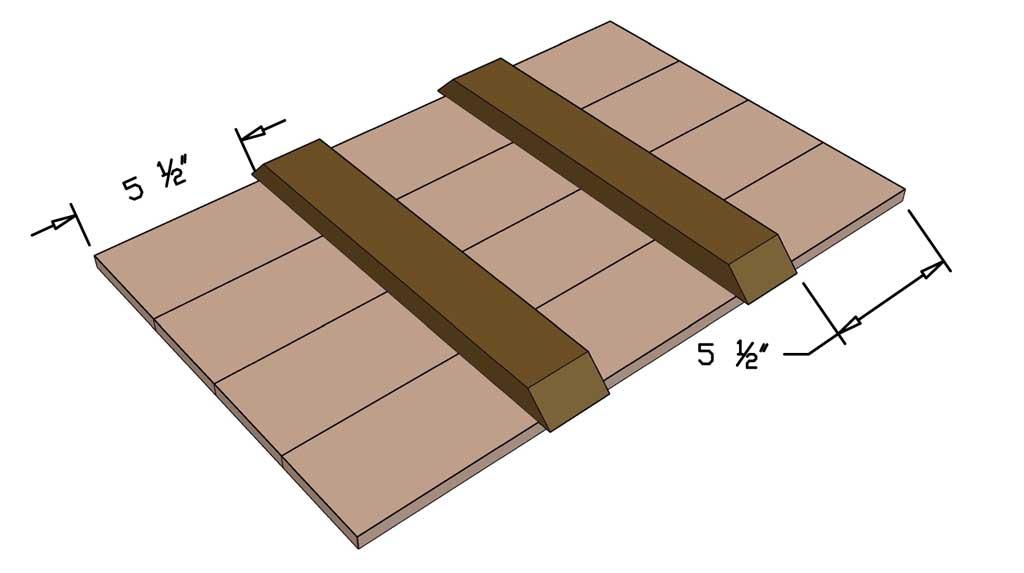 attaching supports under the sandbox