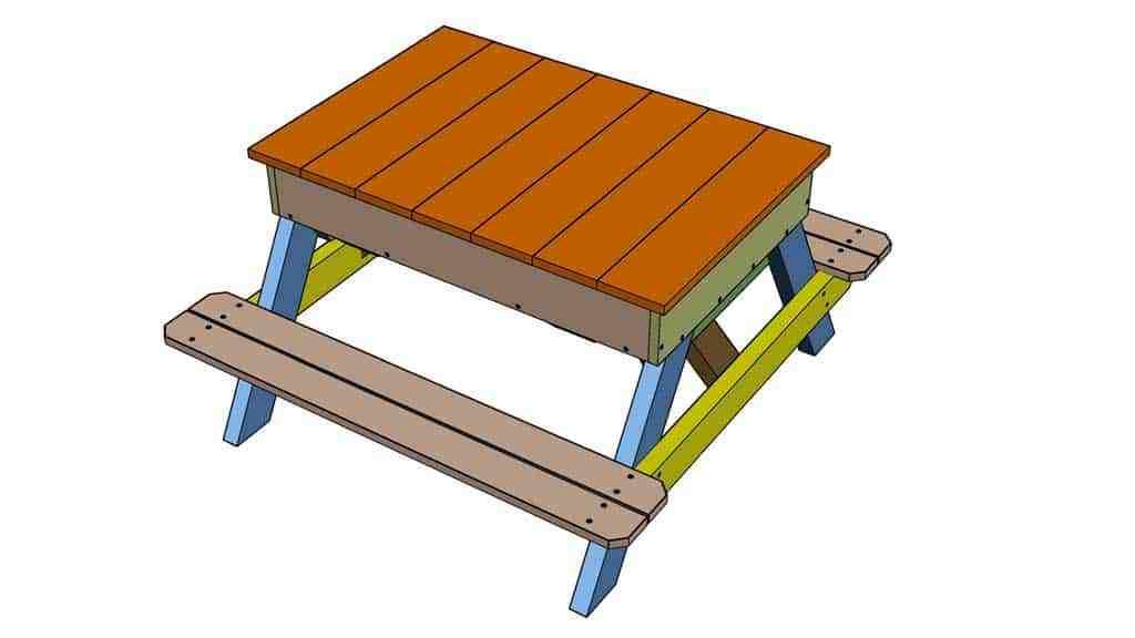 DIY Sandbox table with lid